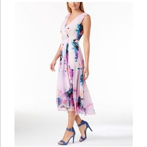 High-Low Midi Floral Dress
